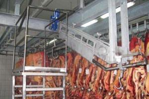 Подвесной трубчатый путь с кронштейнами для мясокомбинатов холодильников