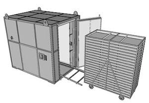 Аэродинамическая сушилка (рециркуляционная нагревательная установка)