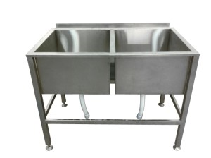 Ванна моечная 2-х секционная для мойки инвентаря