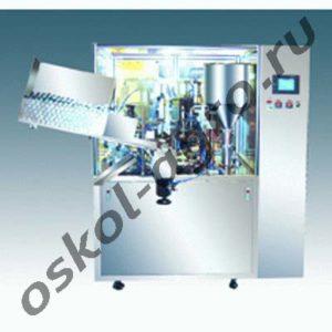 Автомат для дозирования в пластиковые тубы и последующей упаковки МАД-40Б