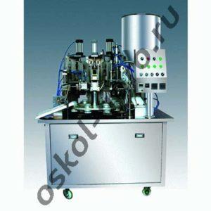 Автоматическая машина для упаковки в пластиковые тубы и последующей запайки серии МАД-40