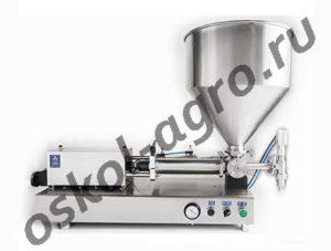 Поршневой дозатор ПД-НТ В100 для фасовки трудно текучих (вязких) продуктов