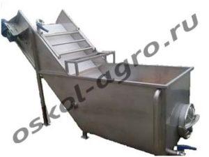 Ванна для овощей с транспортером